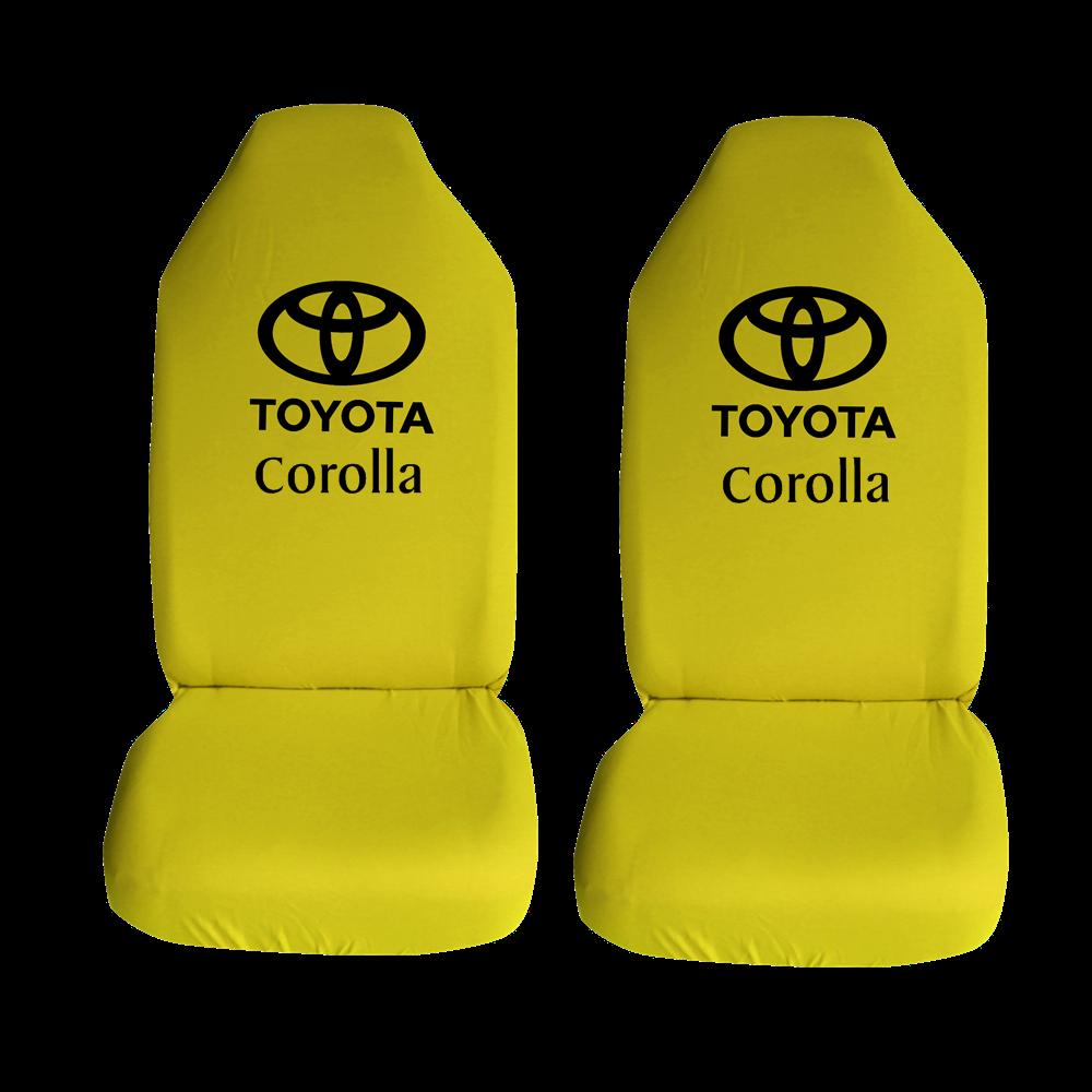 Toyota Corolla Ozel Araba Oto Koltuk Kilifi On Koltuklar Sari Penye Araca Ozel Baskili Bayilere Ozel Kdv